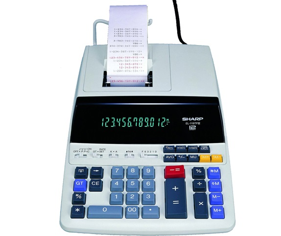 Sharp EL-1197PIII Heavy Duty Color Printing Calculator