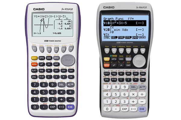 Casio fx-9750GII vs fx-9860GII