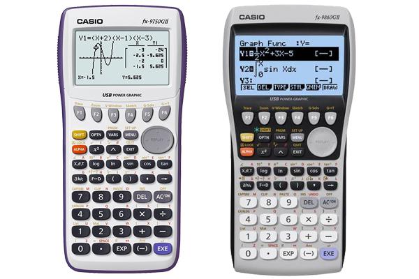 Casio fx-9750GII vs fx-9860GII