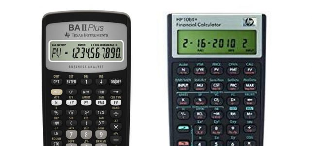 Texas Instruments BA II Plus vs HP 10bII