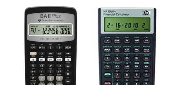 Texas Instruments BA II Plus vs HP 10bII