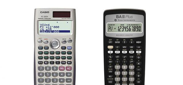 Casio FC-200V vs BA II Plus